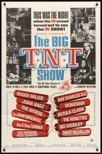 3g077 BIG T.N.T. SHOW 1sh '66 all-star rock & roll, traditional blues, country western & rock!