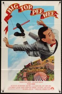 3g078 BIG TOP PEE-WEE 1sh '88 Paul Reubens is a hero, lover & legend, cult classic, great image!