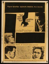 3m023 MAN WITH THE GOLDEN ARM 30x40 R60 classic Saul Bass artwork with images of top stars!