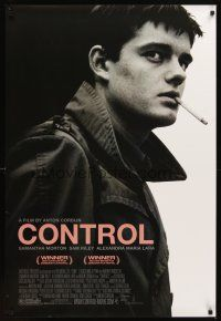 3m065 CONTROL DS 1sh '07 biography of Joy Division's lead singer Ian Curtis, full-length & smoking!