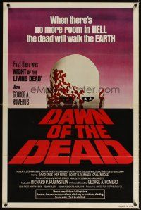 3m074 DAWN OF THE DEAD 1sh '79 George Romero, there's no more room in HELL for the dead!