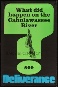 3m062 DELIVERANCE teaser 1sh '72 John Boorman classic, ultra rare poster, 1st time in our auctions!