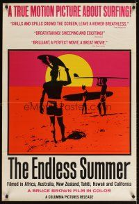 3m060 ENDLESS SUMMER int'l 1sh '67 Bruce Brown surfing sports classic, never before seen poster!