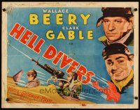 3m031 HELL DIVERS 1/2sh '32 great artwork & c/u's of airplane pilots Clark Gable & Wallace Beery!