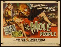 3m033 MOLE PEOPLE style B 1/2sh '56 great different artwork of monster holding sexy girl!