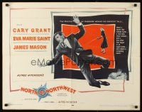 3m034 NORTH BY NORTHWEST 1/2sh '59 Cary Grant, Eva Marie Saint, Alfred Hitchcock classic!