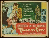3m038 TOUCH OF EVIL 1/2sh '58 art of Orson Welles, Charlton Heston & Janet Leigh by Bob Tollen!