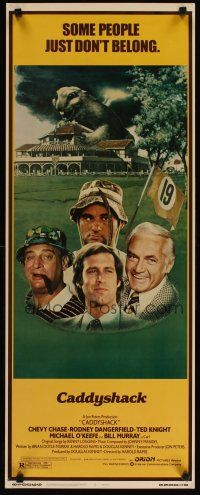 3m042 CADDYSHACK insert '80 Chevy Chase, Bill Murray & Rodney Dangerfield just don't belong!