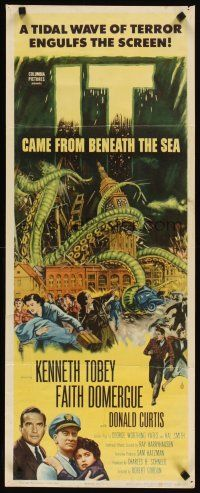 3m048 IT CAME FROM BENEATH THE SEA insert '55 Ray Harryhausen, a tidal wave of terror, cool art!
