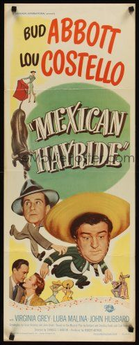 3m052 MEXICAN HAYRIDE insert '48 matador Bud Abbott & Lou Costello in Mexico, great art!