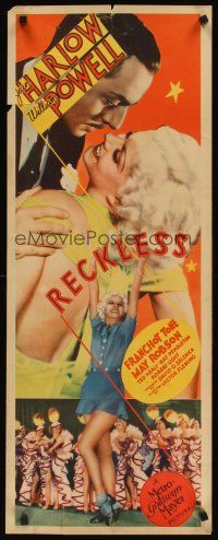 3m055 RECKLESS insert '35 great sexy image of Jean Harlow full-length & w/William Powell!