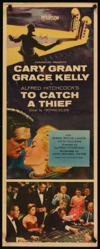 3m058 TO CATCH A THIEF insert '55 romantic close up art of Grace Kelly & Cary Grant, Hitchcock!