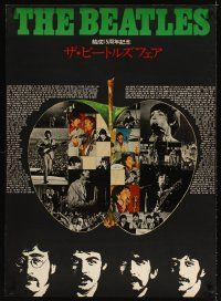3m006 BEATLES Japanese 29x41 '80s great montage of the band inside apple, song list & c/u's!