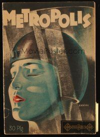 3m365 METROPOLIS German program book '28 Fritz Lang, lots of cool images & text about the movie!