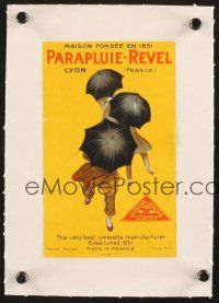 3m009 PARAPLUIE-REVEL linen 5x8 French advertising poster '22 umbrella ad with art by Cappiello!