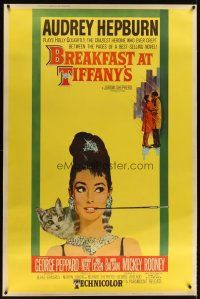 3p204 BREAKFAST AT TIFFANY'S style Y 40x60 '61 most classic artwork of sexy elegant Audrey Hepburn!