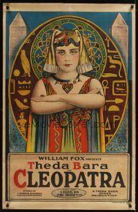 3p001 CLEOPATRA 1sh '17 incredible iconic stone litho art of Theda Bara as The Queen of the Nile!
