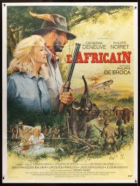 3x602 AFRICAN French 1p '83 art of hunters Catherine Deneuve & Philippe Noiret by Jean Mascii!