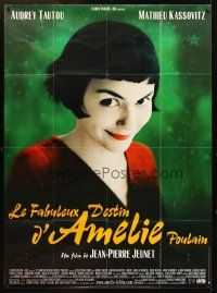 3x609 AMELIE French 1p '01 Jean-Pierre Jeunet, close up of Audrey Tautou by Laurent Lufroy!