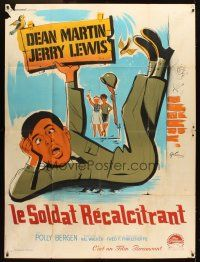3x617 AT WAR WITH THE ARMY French 1p R60s different art of wacky Jerry Lewis by Boris Grinsson!
