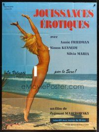 3x620 AWAKENING OF ANNIE French 1p '73 full-length sexy naked Annie Friedman on beach!