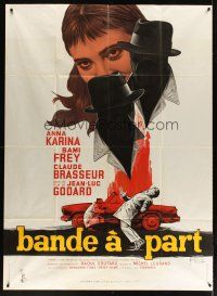 3x623 BAND OF OUTSIDERS French 1p '64 Jean-Luc Godard, art of Anna Karina by Georges Kerfyser!