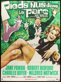 3x626 BAREFOOT IN THE PARK French 1p '67 different Roje art of Robert Redford & sexy Jane Fonda!