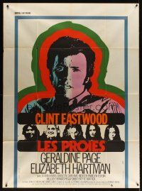 3x633 BEGUILED French 1p '71 different art of Clint Eastwood & Geraldine Page, Don Siegel