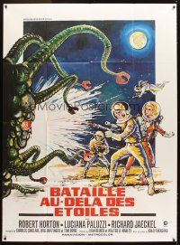 3x760 GREEN SLIME French 1p '68 classic sci-fi, different art of astronauts & monster by Marty!