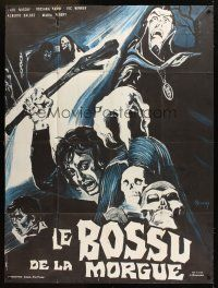 3x777 HUNCHBACK OF THE MORGUE French 1p '73 Spanish horror, cool art by Constantine Belinsky!