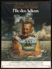 3x785 ISLANDS IN THE STREAM French 1p '77 Ernest Hemingway, different Heron art of George C. Scott
