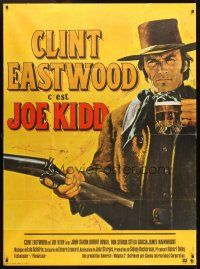 3x789 JOE KIDD French 1p '72 best art of Clint Eastwood with beer and gun in hand by Jean Mascii!