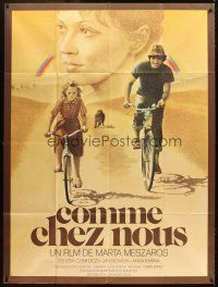 3x863 OLYAN MINT OTTHON French 1p '78 great Galleron artwork of father & daughter on bicycles!