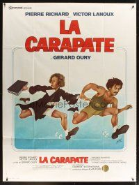 3x870 OUT OF IT French 1p '78 Gerard Oury's La Carapate, wacky art of guys on the run!