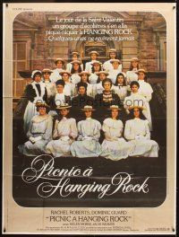 3x883 PICNIC AT HANGING ROCK French 1p '75 Peter Weir classic, vanishing schoolgirls, different!