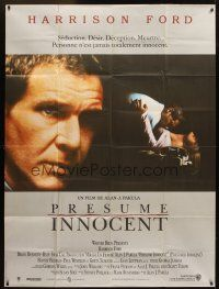 3x890 PRESUMED INNOCENT French 1p '90 Harrison Ford, some people would kill for love!