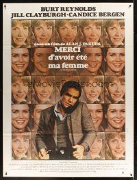 3x933 STARTING OVER French 1p '80 Burt Reynolds, Jill Clayburgh, cool different image!