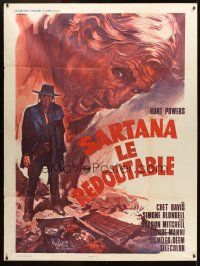 3x935 STRANGER THAT KNEELS BESIDE THE SHADOW OF A CORPSE French 1p '70 cool spaghetti western art!