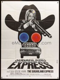 3x938 SUGARLAND EXPRESS French 1p '74 Steven Spielberg, different art of Goldie Hawn by Basha!