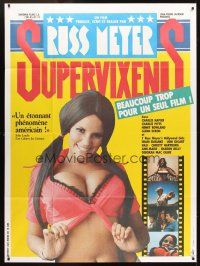 3x940 SUPER VIXENS French 1p '80s Russ Meyer, super sexy Shari Eubank is TOO MUCH for one movie!