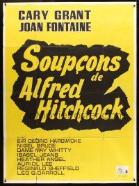 3x942 SUSPICION French 1p R60s Alfred Hitchcock's film noir starring Cary Grant & Joan Fontaine!