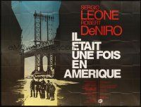 3x558 ONCE UPON A TIME IN AMERICA French 8p '84 directed by Sergio Leone, Clement Hurel art!