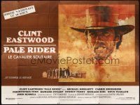 3x559 PALE RIDER advance French 8p '85 great artwork of cowboy Clint Eastwood by C. Michael Dudash!
