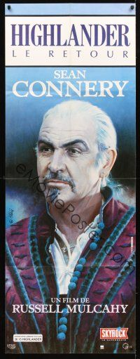 3x586 HIGHLANDER 2 French door-panel '91 great different close portrait of immortal Sean Connery!