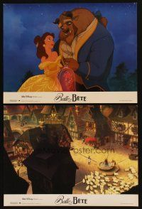 3x590 BEAUTY & THE BEAST 12 French LCs '91 Walt Disney cartoon classic, wonderful images!