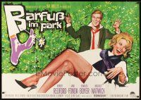 3x199 BAREFOOT IN THE PARK German 33x47 '67 different artwork of Robert Redford & sexy Jane Fonda!
