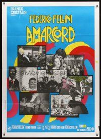 3x394 AMARCORD Italian 1p R70s Federico Fellini classic comedy, Geleng art + photo montage!