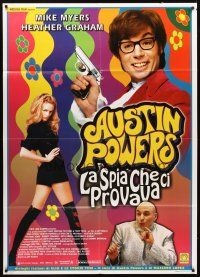3x398 AUSTIN POWERS: THE SPY WHO SHAGGED ME Italian 1p '99 Mike Myers as Austin Powers, Graham!