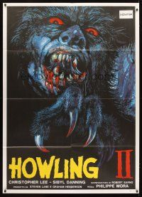 3x460 HOWLING II Italian 1p '85 cool completely different werewolf monster art by Kirby!