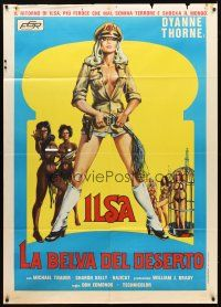 3x467 ILSA HAREM KEEPER OF THE OIL SHEIKS Italian 1p '76 different art of sexy Dyanne Thorne!